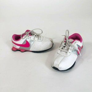 Nike White Pink Lace Tie Turbo Shox Sneakers Shoes